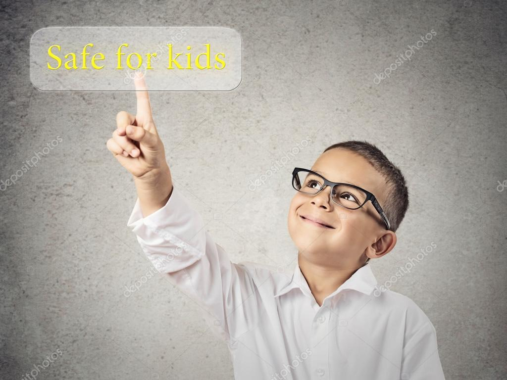 Child pushing safe for kids Button