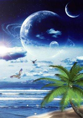 Illustration of tropical Dreamland