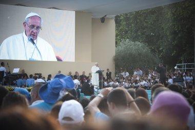 Pope Francis in Sardinia