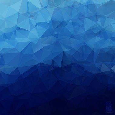 """Картина, постер, плакат, фотообои """"абстрактный геометрический фон треугольников синего цвета ."""", артикул 48418797"""