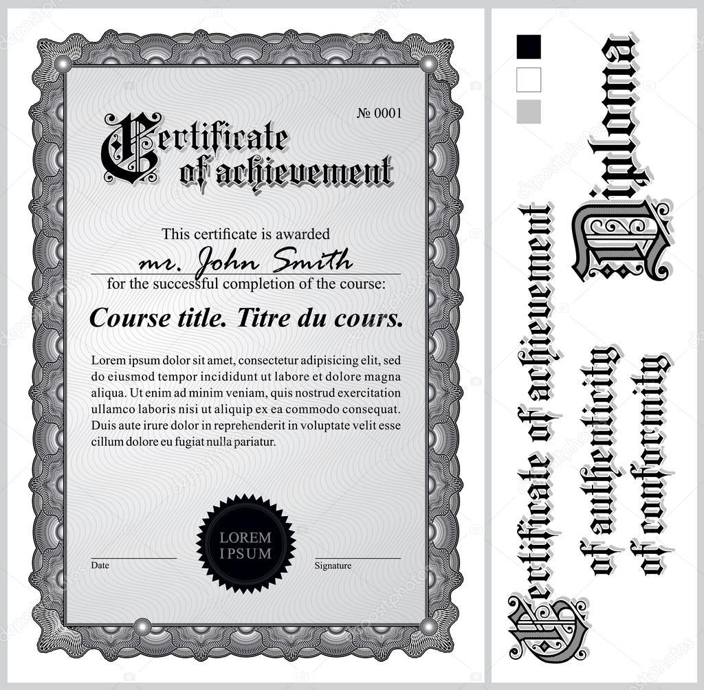 schwarz / weiß-Zertifikat. Vorlage. vertikale. zusätzliche Design ...