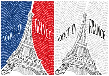 Eiffel Tower from the names of the attractions of France.