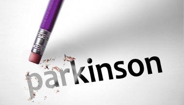 Eraser deleting the word Parkinson