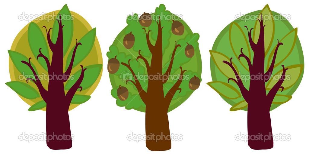 Imagenes De Un Arbol Animado: Ilustracion: Arboles Animados Jpg