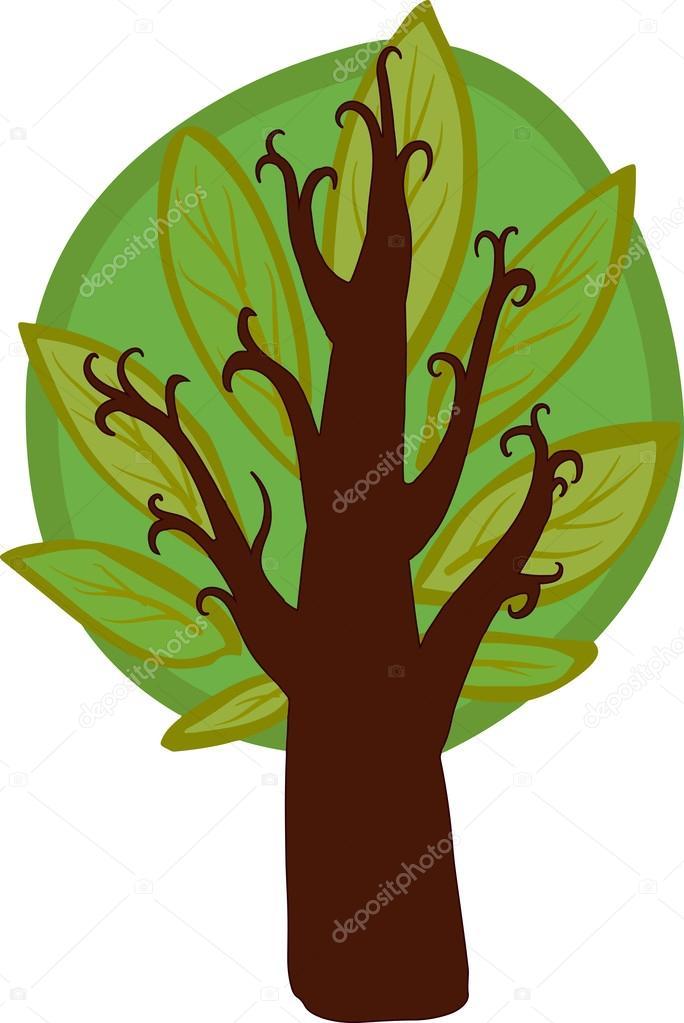 Dibujo A Color De árboles árbol Grande Dibujos Animados Color