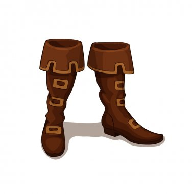 Vector illustration of leather boots