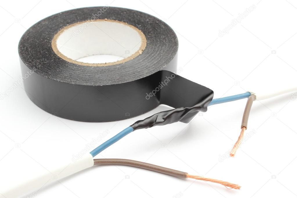 reparatur von elektrischen kabel mit isolierband isoliert. Black Bedroom Furniture Sets. Home Design Ideas