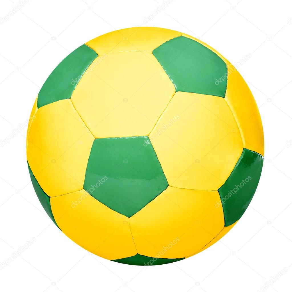 Fußball in brasilianischen Farben — Stockfoto © ronniechua #48826199