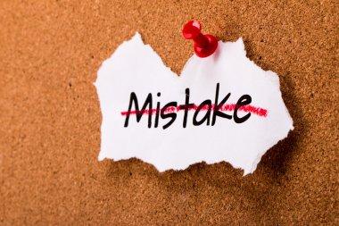 Correct mistake