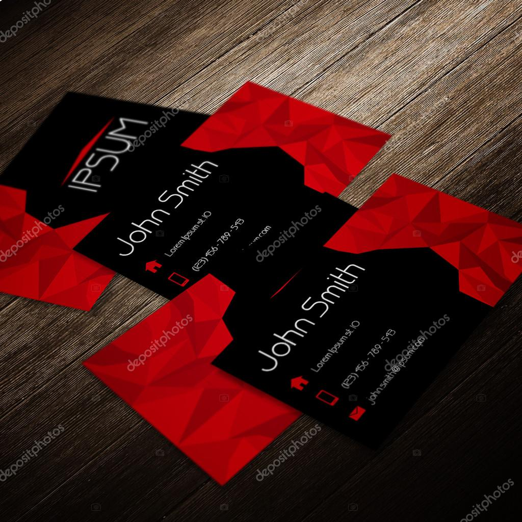 Red and black modern business card template polygon style stock red and black modern business card template polygon style stock vector flashek Gallery