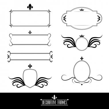 Set of decorative ornate frames and borders