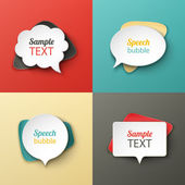Paper speech bubbles different shapes with the shadows