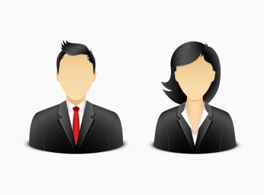 Office man and woman avatar