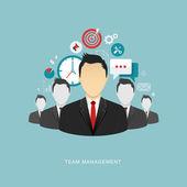 Fotografie Team management flat illustration