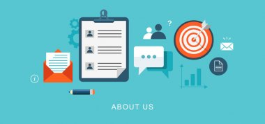 About us page flat illustration