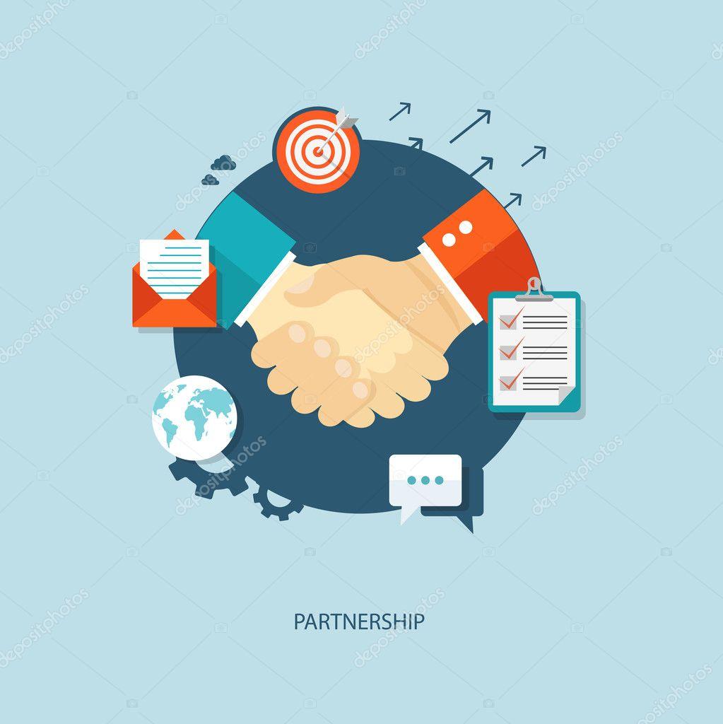 Partnership flat illustration.
