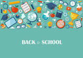 Fotografie Back to school flat illustration