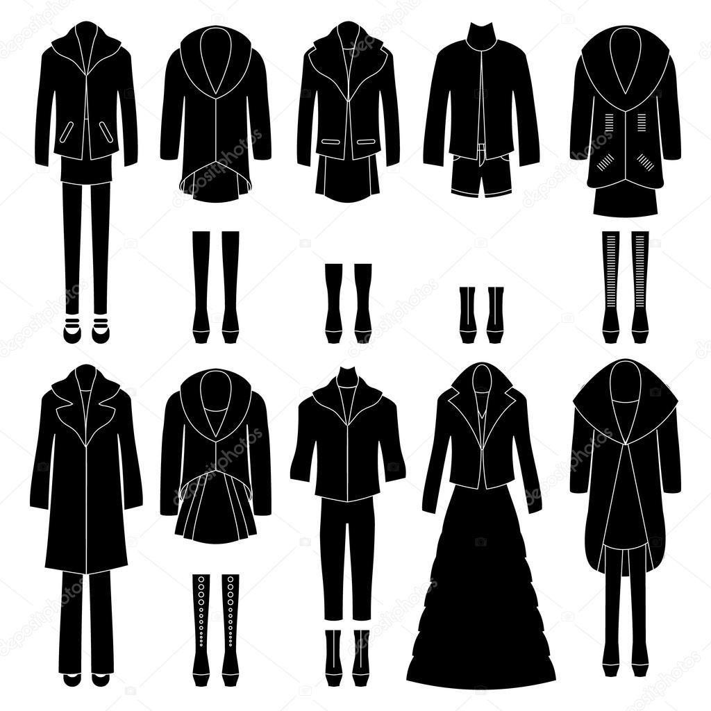 Набір жіночого одягу. різних комбінаціях. вектор — Вектор від Lyusjen 9206e2643211d