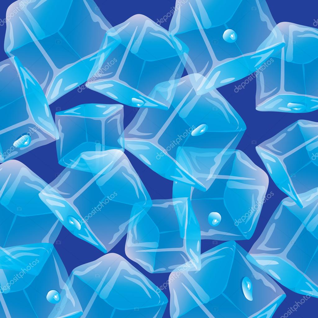 Droplets of ice. Vector seamless background.