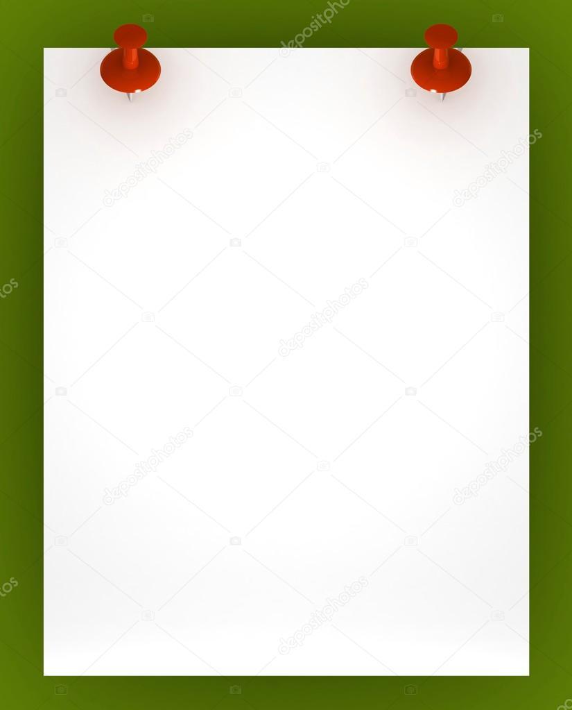 Blank Template | Blank Template Von Einem Blatt Papier Stockfoto C Best3d 51181233