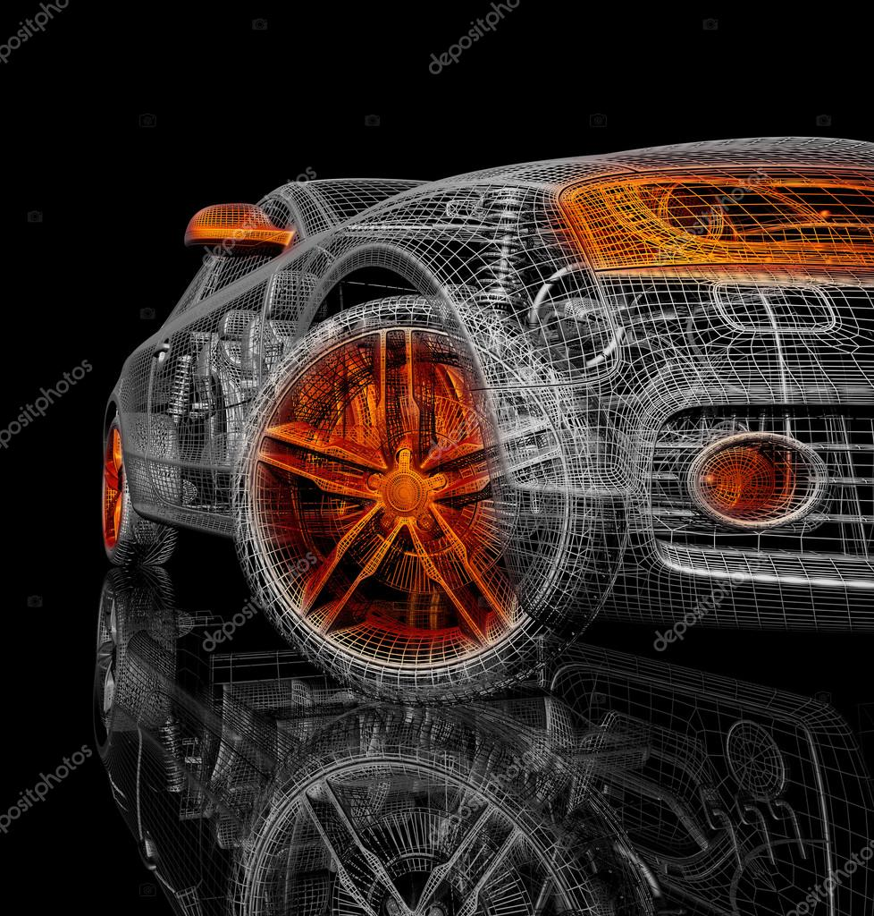 3d Car Model On A Black Background Stock Photo C Best3d 51181765