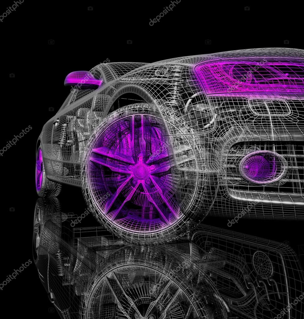 3d Car Model On A Black Background Stock Photo C Best3d 51183461
