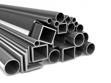 Metal tubes. steel pipe.