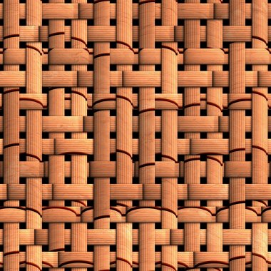 Seamless texture of wicker baskets