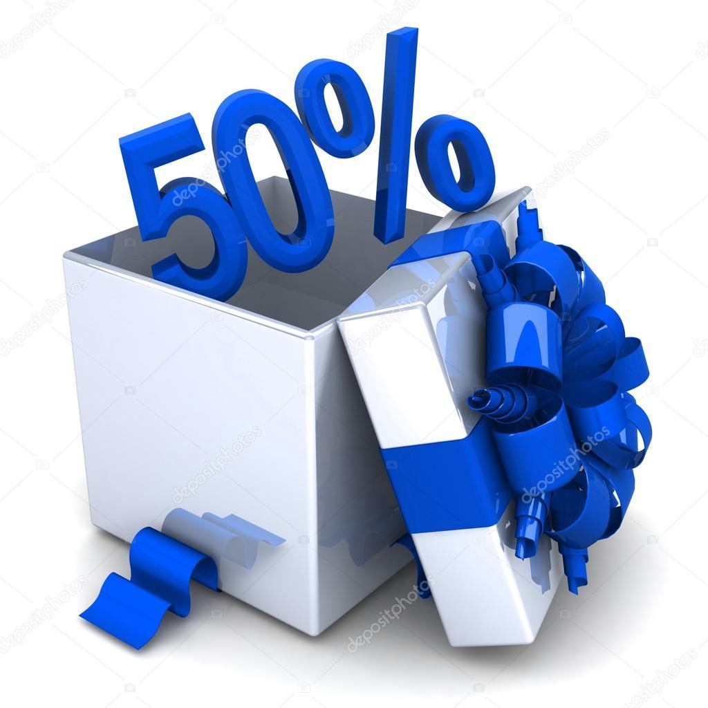 50 descuento gratis caja de regalo abierto con una for In regalo gratis