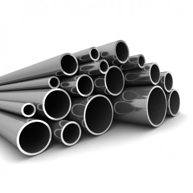 Metal tube. steel pipe. metal profile - industrial background.