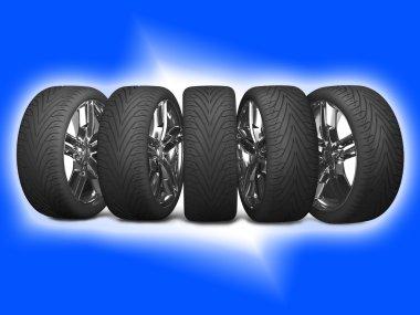 Wheels car. Car tires.
