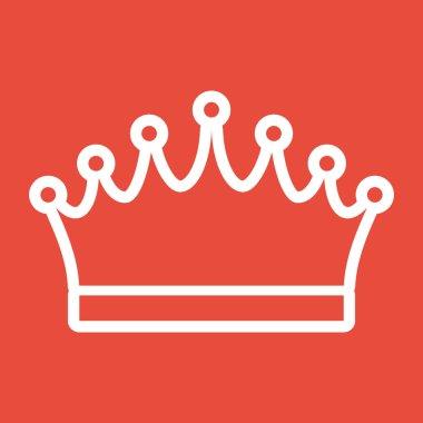 Crown icon Flat design