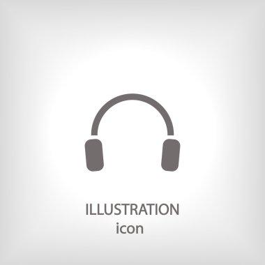 Flat Icon of Headphones