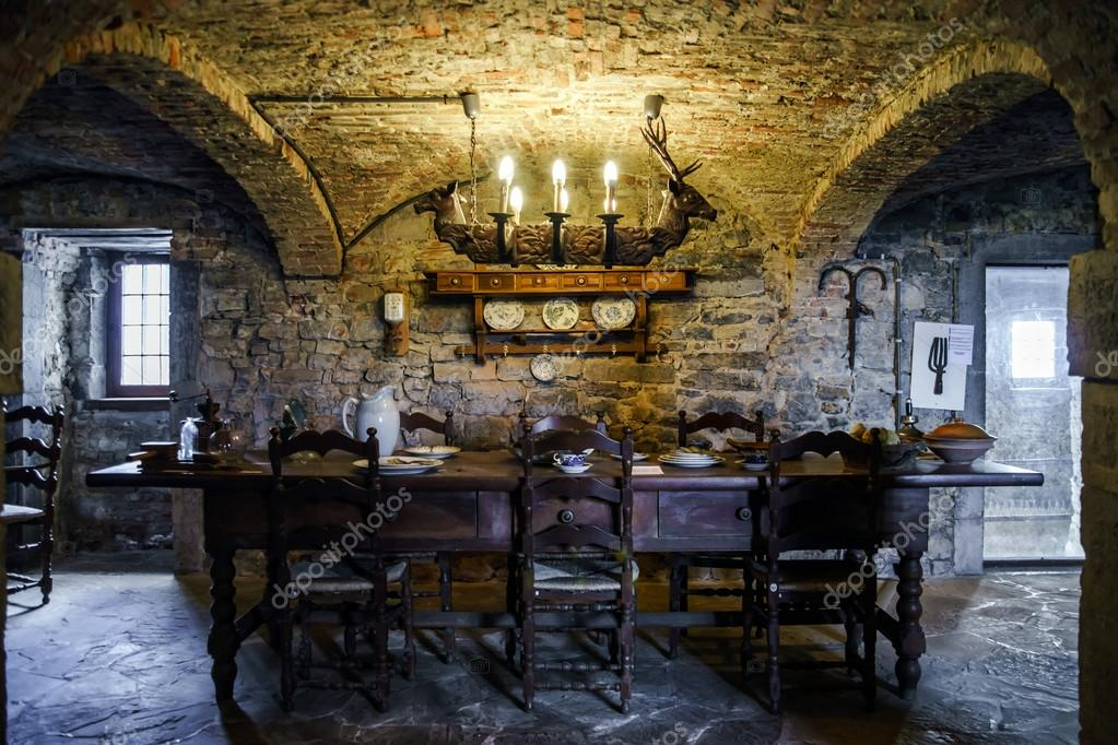Old Medieval Castle Interior Sorokopud