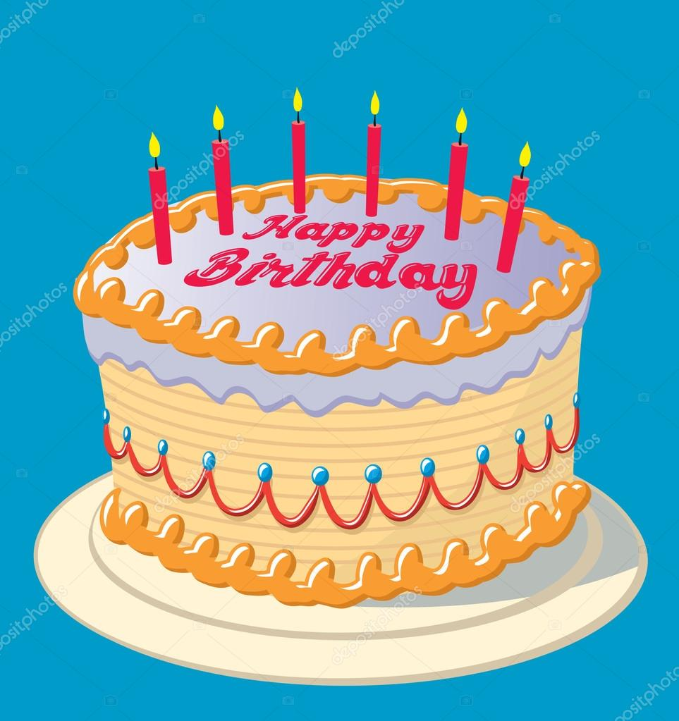 Birthday Cake Stock Vector Updraw 50437123
