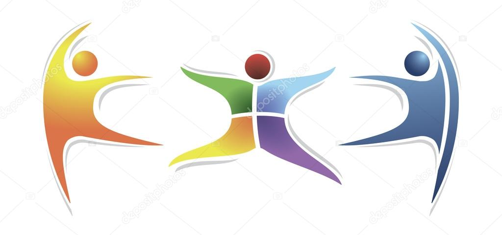Man Symbols Of Dance Vector Logo Objects In Gradient Colors