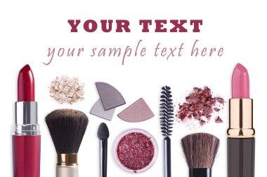 Make up cosmetics set background