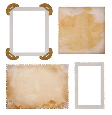 Collection of old photo paper frames stock vector