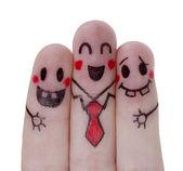 malované šťastný prsty