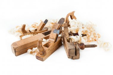 Planer with wooden chips
