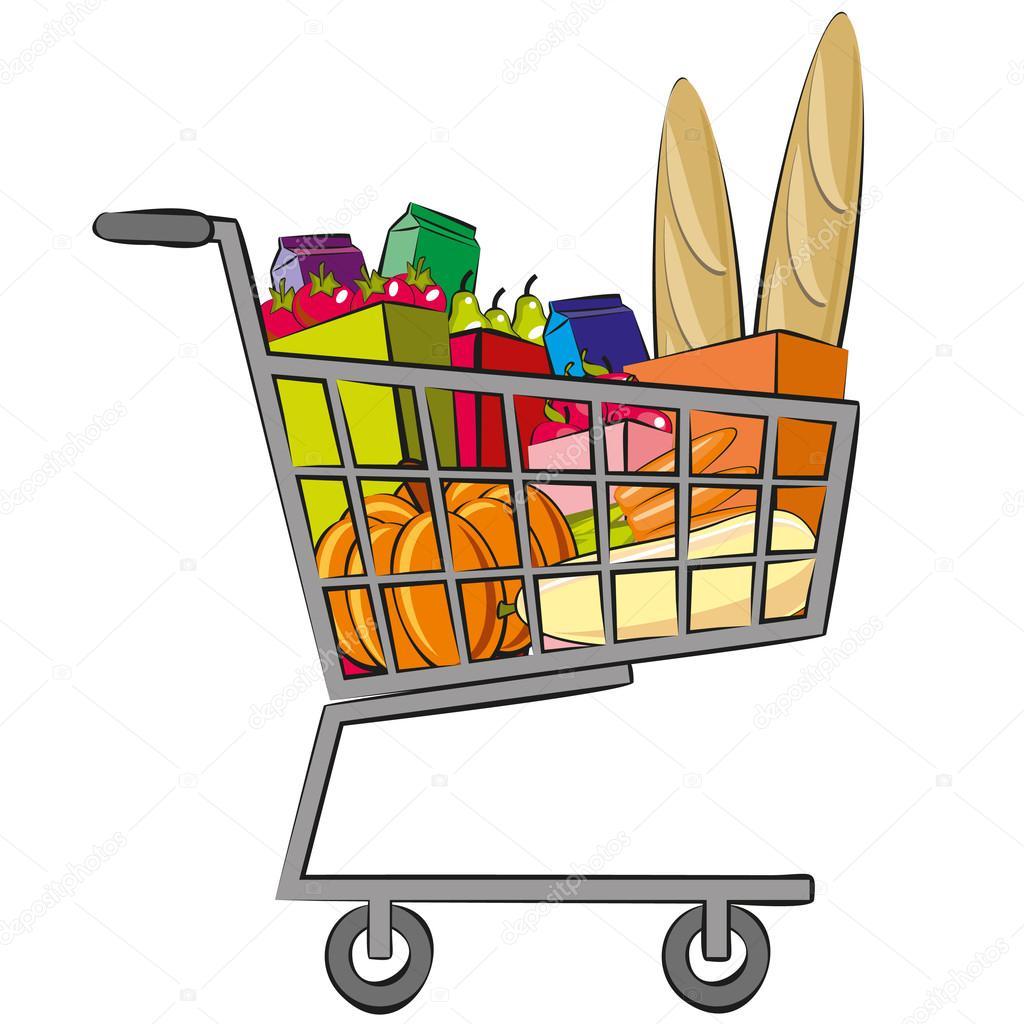 Full Shopping Trolley Stock Vector C Artskvortsova 48874269