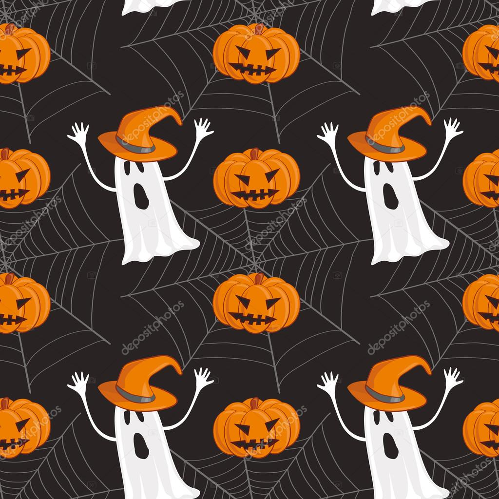 Seamless Halloween pattern background