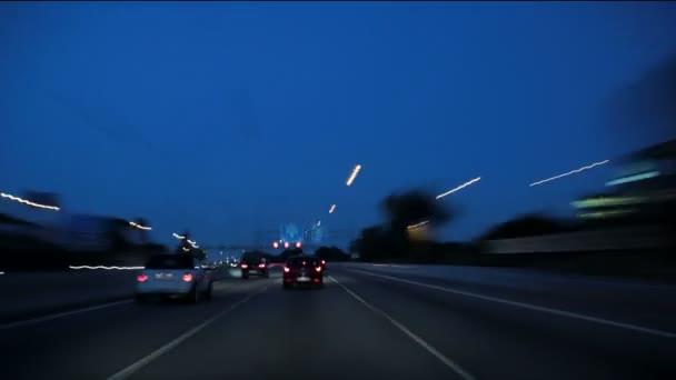 Barcelona v noci město Drive Cameracar 3