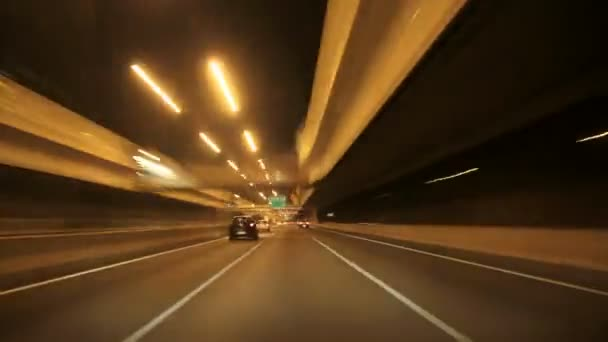 Barcelona Nacht Autobahn Kamerawagen
