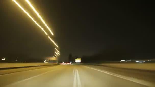 Road rage noční dálnice fotoaparát auto vysoká rychlost