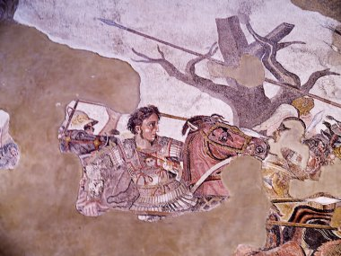"Картина, постер, плакат, фотообои ""известная мозаика Александра Македонского из Помпеи"", артикул 49711585"