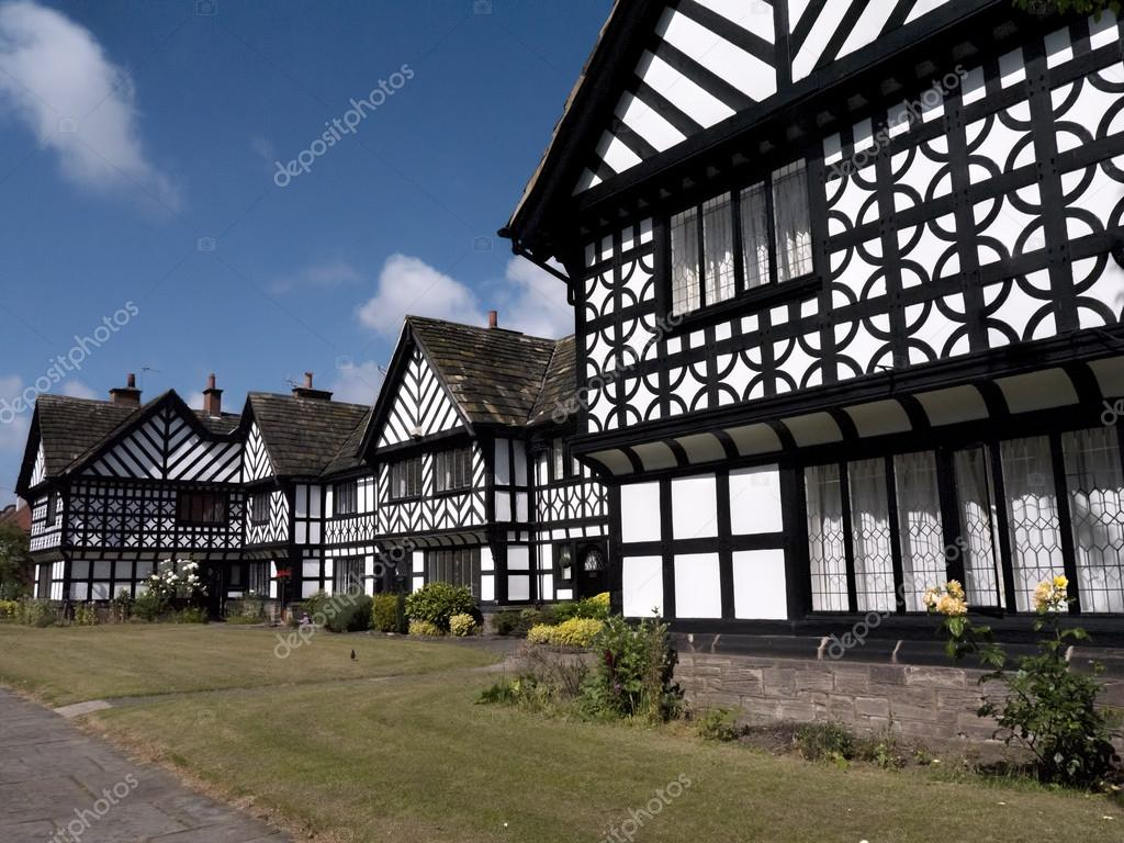 tudor style houses in port sunlight on the wirral cheshire england