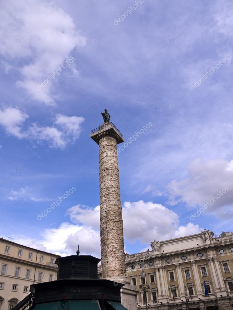 The Column of Marcus Aurelius in Rome Italy