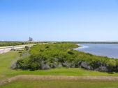 připraven ke startu poslední raketoplán atlantis na mysu canaveral na Floridě