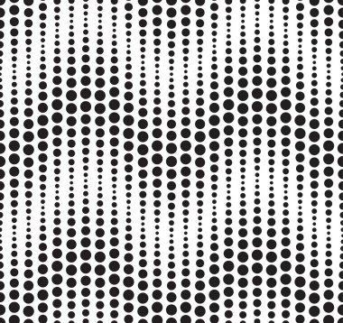 Seamless pattern composed of black geometric elements located on a white background